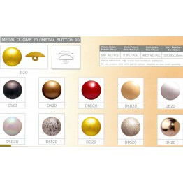 Пуговица мебельная декоративная D20-DN20